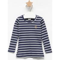 Blusa Listrada - Azul Marinho & Branca - Primeiros Pcostã£O Fashion