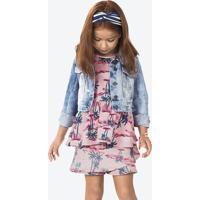 Jaqueta Jeans Infantil Menina Com Leve Efeito Destroyed Puc [] []