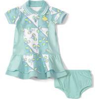 Vestido Com Calcinha Lilica Ripilica Bebê - 10111502B Azul