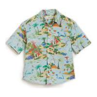 Camisa Dinolandia Est Dinolandia Azul Claro