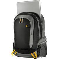 Mochila Para Notebook Hp J6X32Aa Roller Até 15,6 Polegadas Preta E Cinza