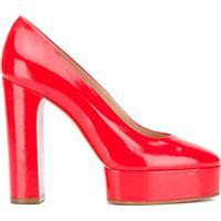 Casadei Sapato Plataforma - Vermelho