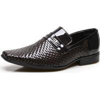 Sapato Social Masculino Calvest Em Couro Nst Verniz – Café 2320B857