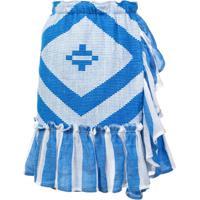 Lemlem Saia Envelope Com Textura Biruhi - Azul