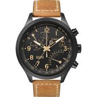Relógio Timex Intelligent T2N700Ww/Tn 44Mm Preto/Marrom