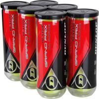 Bola De Tênis Dunlop Grand Prix All Surface Pack Com 6 Tubos - Unissex