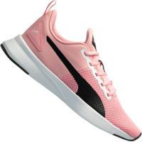 Tênis Puma Flex Runner Color Twist - Infantil - Rosa/Preto