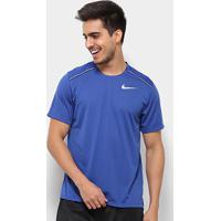 Camiseta Nike Dri-Fit Miler Masculina - Masculino-Azul+Prata