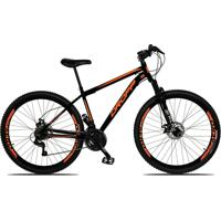 Bicicleta Dropp Aro 29 Freio A Disco Mecânico Quadro 17 Suspensão 21 Marchas Aço Preto Laranja