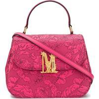 Moschino M Floral-Print Tote Bag - Rosa
