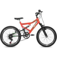 Bicicleta Aro 20 Q14 Full Suspensão 6V Big Rider Mormaii - Masculino