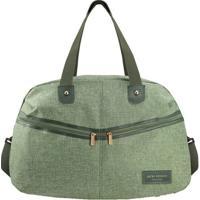 Bolsa De Viagem Com Bolsos- Verde & Verde Escuro- 30Jacki Design