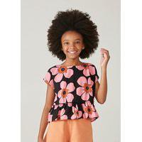 Blusa Infantil Menina Em Tecido Texturizado Mini Me