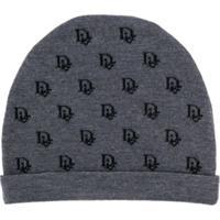 Baby Dior Knitted Logo Hat - Cinza
