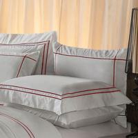 Fronha Harmonious Red Algodão Branca 50X70