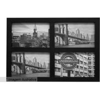 Painel Para 4 Fotos- Preto- 27X35,5X2Cm- Kaposkapos