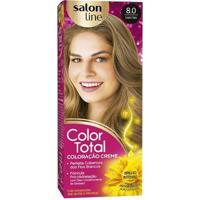 Kit Color Total Salon Line - 8.0 Louro Claro - Unissex-Incolor