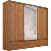 Guarda-Roupa Casal Com Espelho Lounge 3 Pt 7 Gv Amêndola