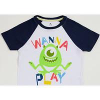Camiseta Infantil Estampa Monstros Sa Disney