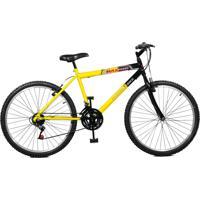 Bicicleta Master Bike Aro 26 Masculina Max Power 18 Marchas Amarelo E Preto