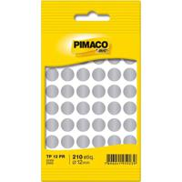 Etiqueta Adesiva Pimaco Circular Tp-12 Prata Com 350 Unidades