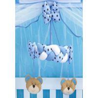 Móbile Berço Bebê Família Urso Azul