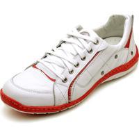 Tênis Esportivo Clube Do Sapato De Franca Wimbledon Branco/Vermelho