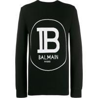 Balmain Moletom Com Logo - Preto