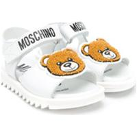 Moschino Kids Sandália Teddy Bear Com Logo - Branco