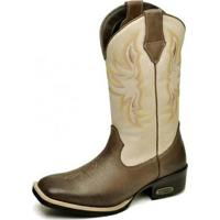 Bota Country Top Franca Shoes Country - Feminino-Marrom