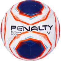 Bola De Futsal Penalty S11 R2 X - Branco/Azul Esc