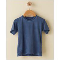 Amaro Feminino Camiseta Infantil Basica Estonada, Azul Marinho