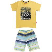 Conjunto Infantil Para Menino - Amarelo