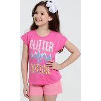Blusa Infantil Estampa Glitter Marisa