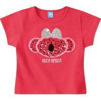 Blusa Lilica Ripilica Vermelha Menina Blusa Lilica Ripilica Vermelha Bebê Menina