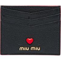 Miu Miu Porta-Cartões Love Logo - Preto