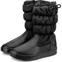Bota Infantil Bibi Preta Com Laço Urban Boots 1087011 37