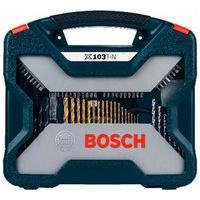 Jogo De Ferramentas 103 Unidades Em Poliamida E Aço X-Line Bosch.