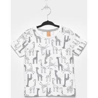 Camiseta Infantil Up Baby Girafas Masculina - Masculino