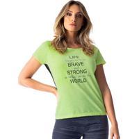 Blusa Com Inscrição- Verde Pretavestem