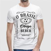 Camiseta Brasil Me Obriga A Beber Masculina - Masculino