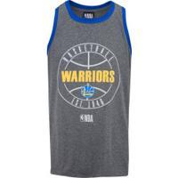 Camiseta Regata Nba Golden State Warriors 24218 - Masculina - Cinza Esc Mescla