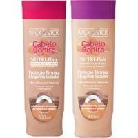 Kit Shampoo + Condicionador Nick & Vick Nutri-Hair Proteção Térmica Kit - Unissex-Incolor