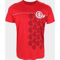 Camiseta Internacional Estampada Masculina - Masculino-Vermelho