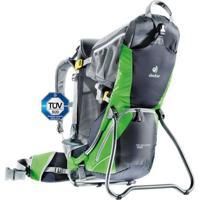 Mochila Cargueira Para Transporte De Crianças Deuter Kid Comfort Air Preta E Verde