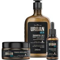 Kit Urban Men Ipa Shampoo + Óleo + Pomada + Nécessaire - Unissex-Incolor