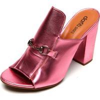 Tamanco Dafiti Shoes Metal Rosa