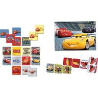 Conjunto Com 3 Jogos - Quebra-Cabeça - Dominó E Jogo Da Memória - Disney - Cars 3 - Toyster