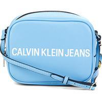 Bolsa Calvin Klein Camera Bag Sculped Feminina - Feminino-Azul
