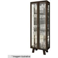 Cristaleira Com Portas- Tabaco- 182X63,4X33Cmtecnomobili